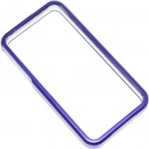 XQISIT CUSTODIA ORIGINALE BUMPER IVEST ALLUMINIUM PER APPLE IPHONE 4 - 4S PURPLE