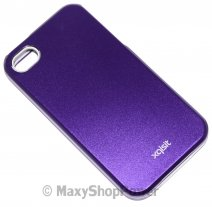 XQISIT CUSTODIA ORIGINALE IPLATE ALLUMINIUM PER APPLE IPHONE 4 - 4S PURPLE