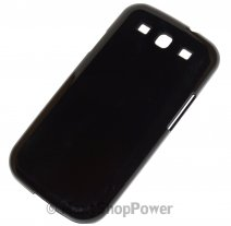 XQISIT CUSTODIA ORIGINALE COVER IPLATE GLOSSY PER SAMSUNG GALAXY S3 I9300 - NEO I9301 BLACK
