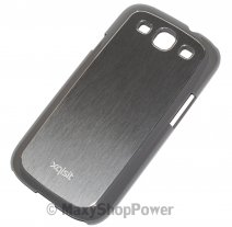 XQISIT CUSTODIA ORIGINALE COVER IPLATE METAL PER SAMSUNG GALAXY S3 I9300 - NEO I9301 ANTRACITE
