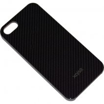 XQISIT CUSTODIA IPLATE CARBON APPLE IPHONE 5 - 5S - SE BLACK