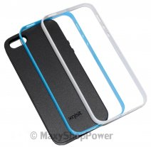 XQISIT CUSTODIA IPLATE FRAME APPLE IPHONE 5 - 5S - SE BLACK WHITE-BLU