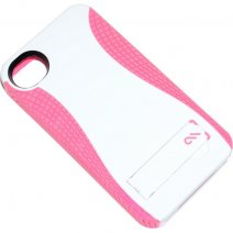 CASE-MATE CUSTODIA POP COVER APPLE IPHONE 4 - 4S WHITE-PINK