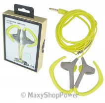 ACURA AURICOLARE CU-1300 ORIGINALE STEREO IN-EAR CON SUPPORTO ORECCHIO JACK 3,5MM GREEN /