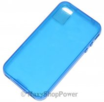 FITCASE CUSTODIA ORIGINALE TPU COVER PER APPLE IPHONE 4 BLU