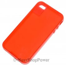 FITCASE CUSTODIA ORIGINALE TPU COVER PER APPLE IPHONE 4 RED