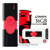 KINGSTON PEN DRIVE 106 CHIAVETTA USB 3.1 - 3.0 - 2.0 16GB DATATRAVELER BLACK