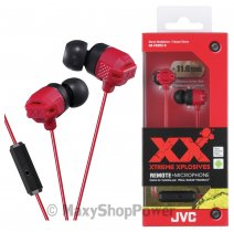JVC AURICOLARE ORIGINALE STEREO EXTREME XPLOSIVES BASS HA-FR202-R IN-EAR RED /PER IOS IPHONE GALAXY