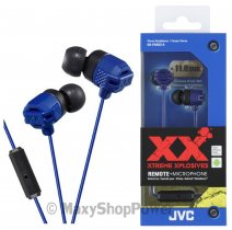 JVC AURICOLARE ORIGINALE STEREO EXTREME XPLOSIVES BASS HA-FR202-A IN-EAR BLU /PER IOS IPHONE GALAXY