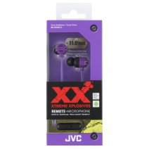 JVC AURICOLARE ORIGINALE STEREO EXTREME XPLOSIVES BASS HA-FR202-V IN-EAR VIOLA /PER IOS IPHONE GALAX