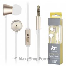 KITSOUND AURICOLARE ORIGINALE A FILO STEREO IN-EAR JACK METAL CASING /PER SMARTPHONE ANDROID IPHONE