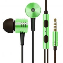 MI AURICOLARE A FILO STEREO SUPER BASS HEADPHONES IN-EAR JACK 3,5MM UNIVERSALE GREEN /