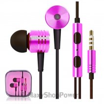 MI AURICOLARE A FILO STEREO SUPER BASS HEADPHONES IN-EAR JACK 3,5MM UNIVERSALE PINK /