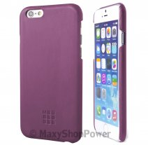 MOLESKINE CUSTODIA HARD COVER BACK LEATHER CASE PER APPLE IPHONE 6 / 6S PURPLE