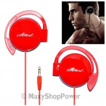 START AURICOLARE STEREO PROFESSIONAL HEADPHONES JACK 3,5MM UNIVERSALE RED