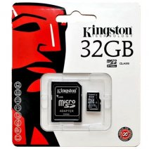 KINGSTON MEMORY CARD MICROSD HC 32 GB + ADATTORE CLASSE 10 /