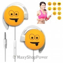START AURICOLARE A FILO STEREO SMILE-01 HEADPHONES JACK 3,5MM UNIVERSALE PER MUSICA YELLOW /