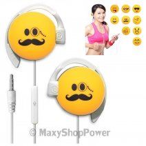 START AURICOLARE A FILO STEREO SMILE-04 HEADPHONES JACK 3,5MM UNIVERSALE PER MUSICA YELLOW /