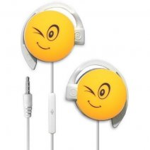 START AURICOLARE A FILO STEREO SMILE-05 HEADPHONES JACK 3,5MM UNIVERSALE PER MUSICA YELLOW /