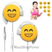 START AURICOLARE A FILO STEREO SMILE-06 HEADPHONES JACK 3,5MM UNIVERSALE PER MUSICA YELLOW /