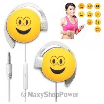 START AURICOLARE A FILO STEREO SMILE-07 HEADPHONES JACK 3,5MM UNIVERSALE PER MUSICA YELLOW /