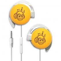 START AURICOLARE A FILO STEREO SMILE-08 HEADPHONES JACK 3,5MM UNIVERSALE PER MUSICA YELLOW /