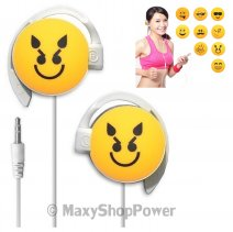 START AURICOLARE A FILO STEREO SMILE-10 HEADPHONES JACK 3,5MM UNIVERSALE PER MUSICA YELLOW /