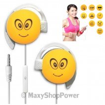START AURICOLARE A FILO STEREO SMILE-09 HEADPHONES JACK 3,5MM UNIVERSALE PER MUSICA YELLOW /