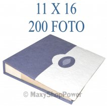 ALBUM FOTOGRAFICO TWO COLORS 200 FOTO CON TASCHE 11X16 BLUE
