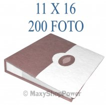 ALBUM FOTOGRAFICO TWO COLORS 200 FOTO CON TASCHE 11X16 BROWN