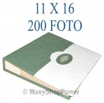 ALBUM FOTOGRAFICO TWO COLORS 200 FOTO CON TASCHE 11X16 GREEN